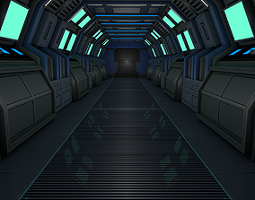 3D model Sci Fi Corridor spaceship
