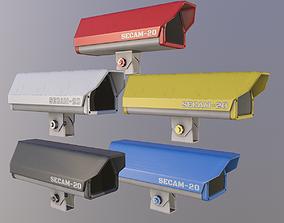 3D model Security Camera - Multiple Colors