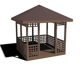 low-poly garden house low-poly 3D model