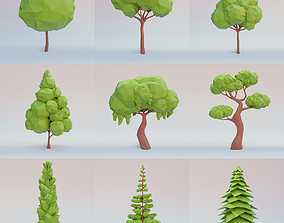 Tree set 3D model realtime