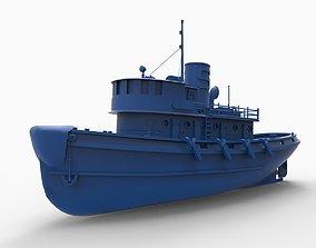 Diesel Tugboat 3D print model