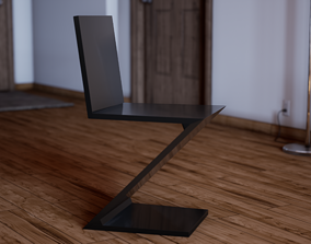 UE4 Asset - Zig Zag Chair by Gerrit Thomas game-ready