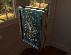 3D model magical book