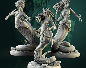 3D printable model Naga female warriors set 32mm