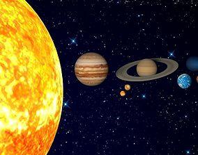 Solar system 3D model realtime