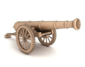 3D old War cannon