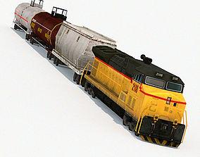 3D model Low Poly Locomotive