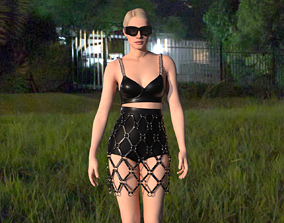 3D model visualfashion skirt