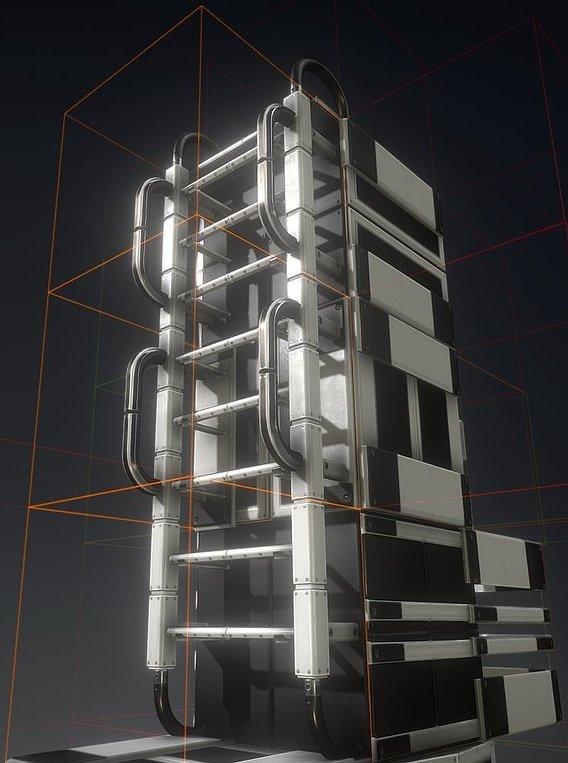 Futuristic Ladder Collection White Plastic Version