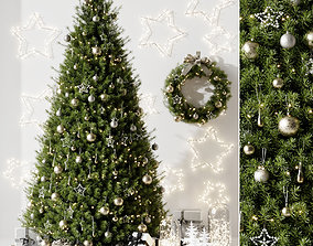 3D model PBR Christmas tree design