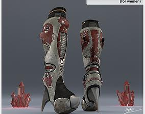 Explorer boots for Women 3D asset