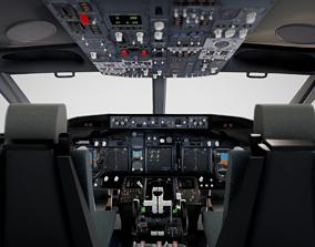 3D pilot Boeing 737 Airplane Cockpit