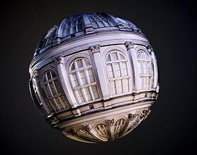 3D model Building Window Ornate Seamless PBR Texture