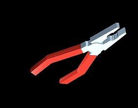 Low poly pliers 3D model