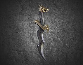 Dragon Dagger 3D asset VR / AR ready