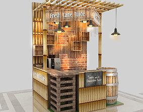3D shop Kiosk - Cane Juice