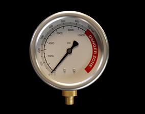 3D model 10000 PSI Pressure Gauge meter
