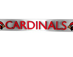 Cardinals plate 2 3D