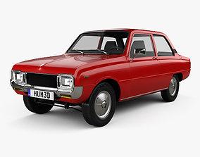 3D Mazda 1000 1973