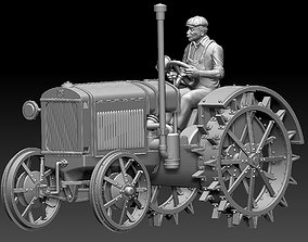 tractor and tractor driver 3D print model