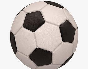 3D asset realtime Football Soccer Ball