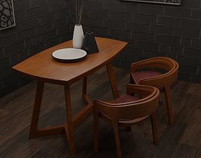 PBR 3D Wooden Table