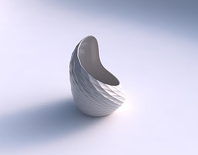 Vase Tide with distorted grid plates 3D printable model