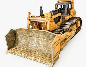 3D asset Bulldozer Hydraulic