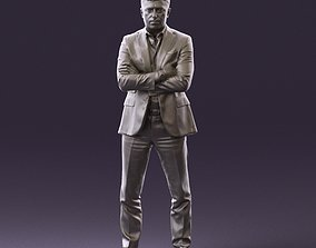 001027 man in close pose in blue square suit 3D Print 1