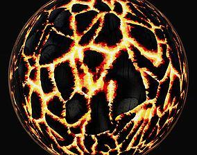 3D science Burnt Wood