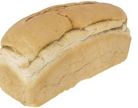 Bread Loaf - High and Low Poly versions 3D asset