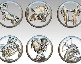 cancer Lot of 6pcs zodiac models