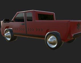3D asset Pickup Car