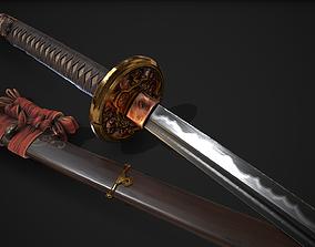 Weapon Katana Sword Blade 3D asset