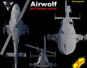 3D printable model Airwolf Bell 222 Replica