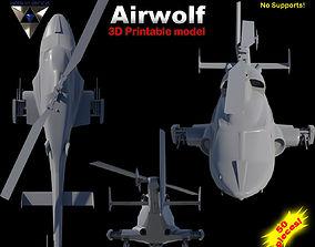 3D print model Airwolf Bell 222 Replica airwolf