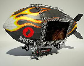 3D Advertising Zeppelin Burn