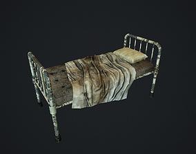 3D model Old Hospital bed