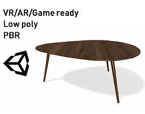 VR / AR ready Article Amoeba Wood Coffee Table Lowpoly 1