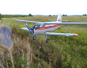 Antonov An-2 Mid poly 3D model VR / AR ready