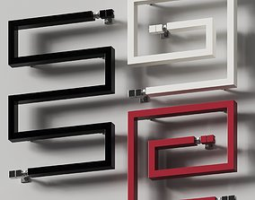 3D Scirocco H Snake 50 and 66 Towel Rail