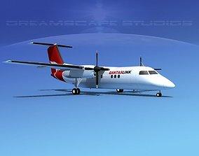 Dehaviland DHC-8 100 Qantaslink 3D