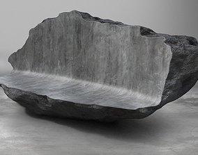 VR / AR ready Rock Stone Obelisk Sofa Couch 3D Model