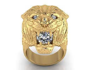 3D printable model Ring 11 Big Tiger Ring