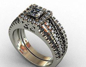 rings female Diamond Ring 3D print model