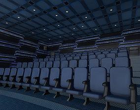 Modern Cinema Hall 04 3D asset