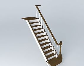 stairs white 3D