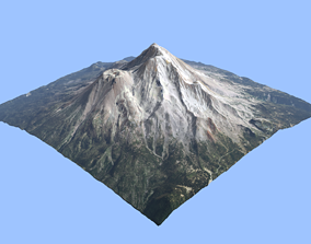 Volcano Mountains - Mount Shasta 3D model