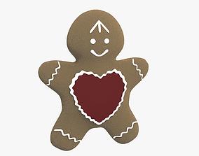 Gingerbread Man 3D asset VR / AR ready