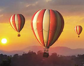 Hot Air Balloon fly 3D
